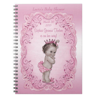 Pink Vintage Princess Baby Shower Guest Book