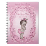 Pink Vintage Princess Baby Shower Guest Book Spiral Note Books