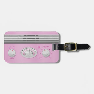 Pink Vintage Radio Tags For Bags