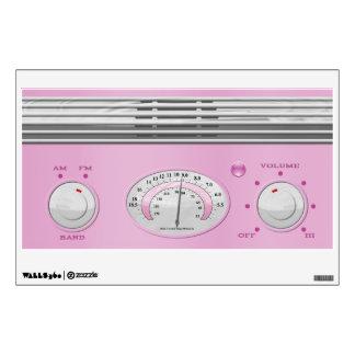 Pink Vintage Radio Wall Sticker