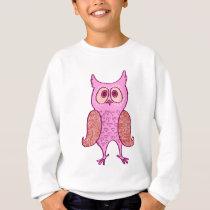 Pink vintage retro owl sweatshirt