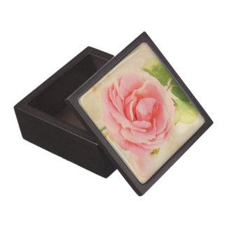 Pink vintage rose box premium keepsake boxes