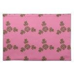 Pink Vintage Rose Pattern Placemats