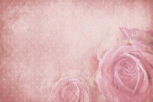 Pink Vintage Roses Bath Mats