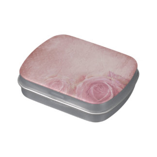 Pink Vintage Roses Candy Tin