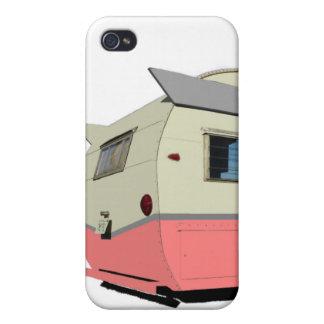 Pink Vintage Shasta Trailer iPhone Case