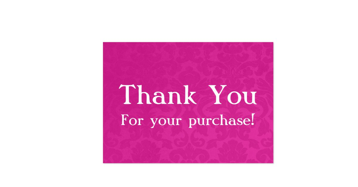 Pink Vintage Thank You For your Purchase Cards