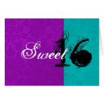 Pink Vintage &Turquoise Happy Sweet Sixteen Card