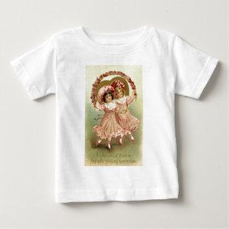 Pink Vintage Valentine's Day Friendship Baby T-Shirt