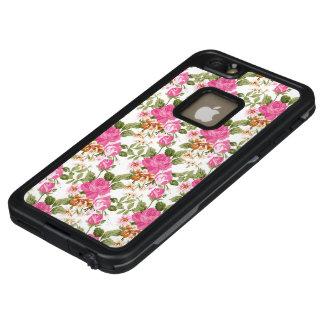 Pink Vintage Victorian rose iPhone 6/6s plus case