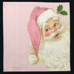 "Pink Vintage Victorian Santa Claus Napkin<br><div class=""desc"">Vintage Victorian Santa Claus in pink on a pink &amp; white background.</div>"