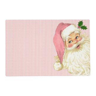 Pink Vintage Victorian Santa Claus Placemat