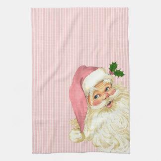 Pink Vintage Victorian Santa Claus Roses Towels
