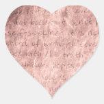 Pink Vintage Wedding Love is Patient Envelope Seal Sticker