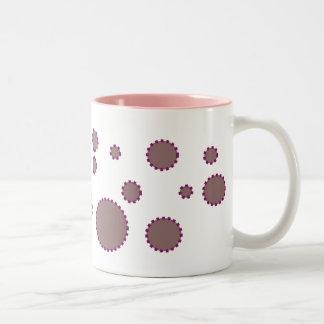 pink violet bubble mug