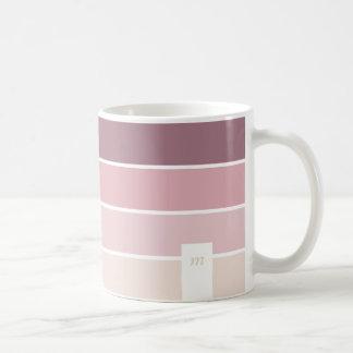 Pink violet palette modern urban chic mug