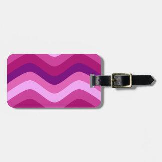 Pink Violet Wave Travel Bag Tags