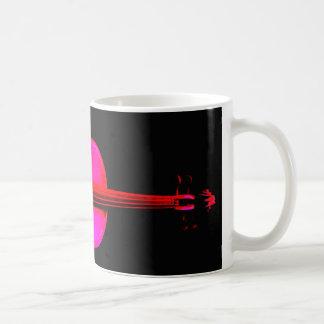 Pink Violin Design on a Mug