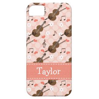 Pink Violin iPhone 5 Case