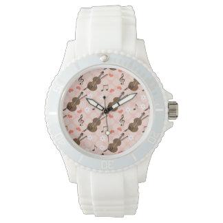 Pink Violin Watch