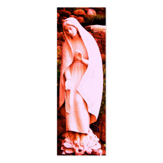 Pink Virgin Mary BOOKMARK Mini Business Card