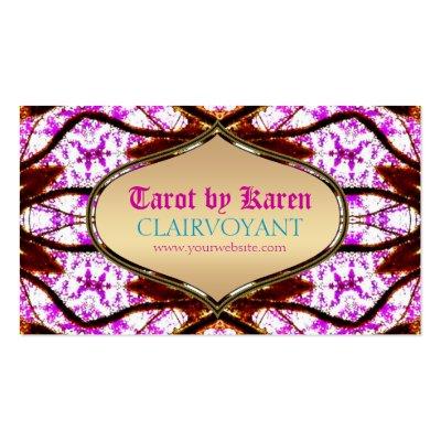 Pink Visionary Goddess Tarot Business Cards