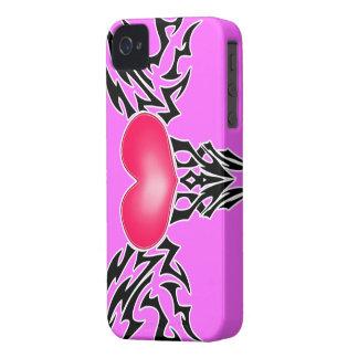 Pink Vixen Heart BlackBerry Bold Case-Mate iPhone 4 Case
