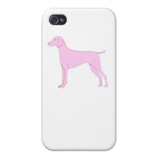 Pink Vizsla iphone Hard Cover Case