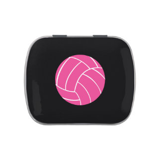 Pink Volleyball Candy Tin