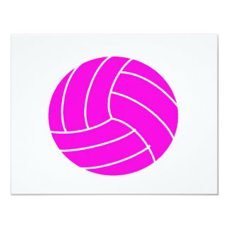 Pink Volleyball Card