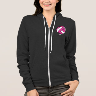 Pink Volleyball (customizable) Hoodie
