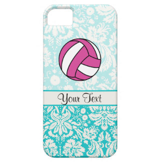 Pink Volleyball; Damask Pattern iPhone 5 Cover