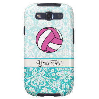 Pink Volleyball; Damask Pattern Samsung Galaxy SIII Covers