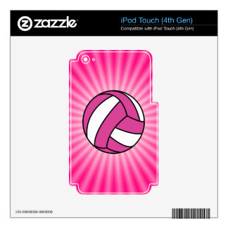 Pink Volleyball Decal For iPod Touch 4G