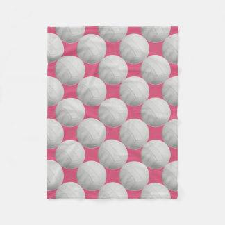 Pink Volleyball Fleece Blanket