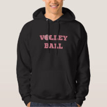 Pink Volleyball Hoodie