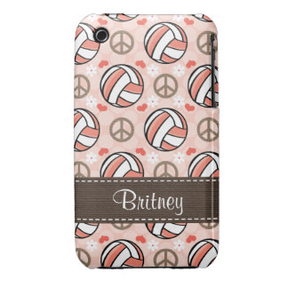 Pink Volleyball iPhone 3 Case Mate Cover