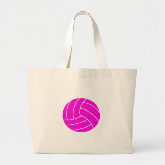 Pink Volleyball Large Tote Bag