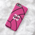 Pink Volleyball Monogram Custom iPhone Case