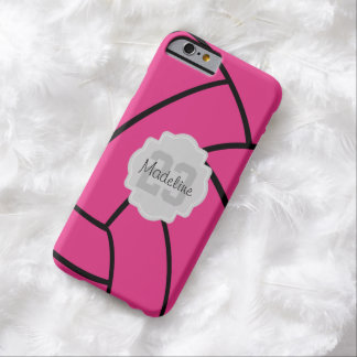 Pink Volleyball Monogram Custom iPhone Case Barely There iPhone 6 Case