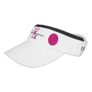 Pink Volleyball Monogram Sport Sun Visor Headsweats Visor