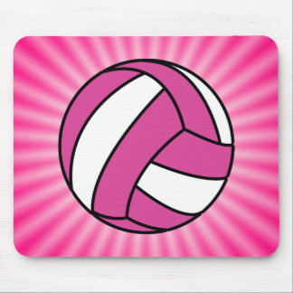 Pink Volleyball Mouse Pads