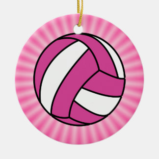 Pink Volleyball Ornaments