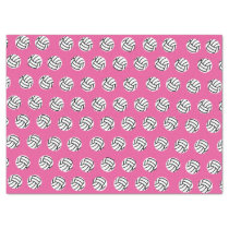 Pink Volleyball Pattern Tissue Paper