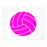 Pink Volleyball Personalized Invitation