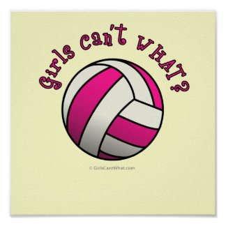 Pink Volleyball Poster