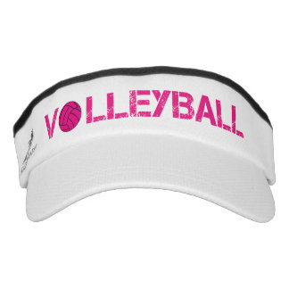 Pink Volleyball Sport Sun Visor Headsweats Visor