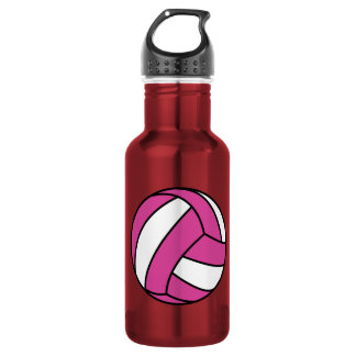 Pink Volleyball Stainless Steel Water Bottle