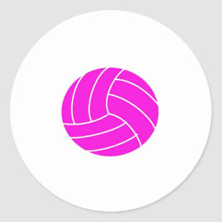 Pink Volleyball Stickers