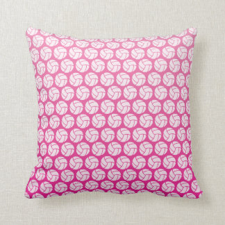 Pink Volleyball Throw Pillow